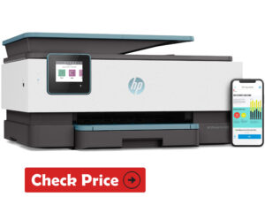 HP OfficeJet Pro 9015 printer with long ink cartridge