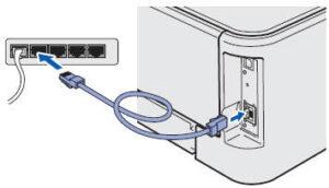 brother printer LAN connection