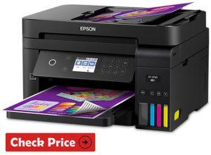 Epson WorkForce ET-3750 printer with long ink cartridges
