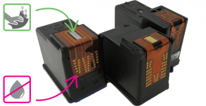 If the printheads are integrated directly on the cartridges